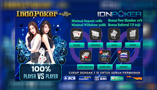 Agen Poker IDNPlay Termurah Deposit Via OVO 10Rb